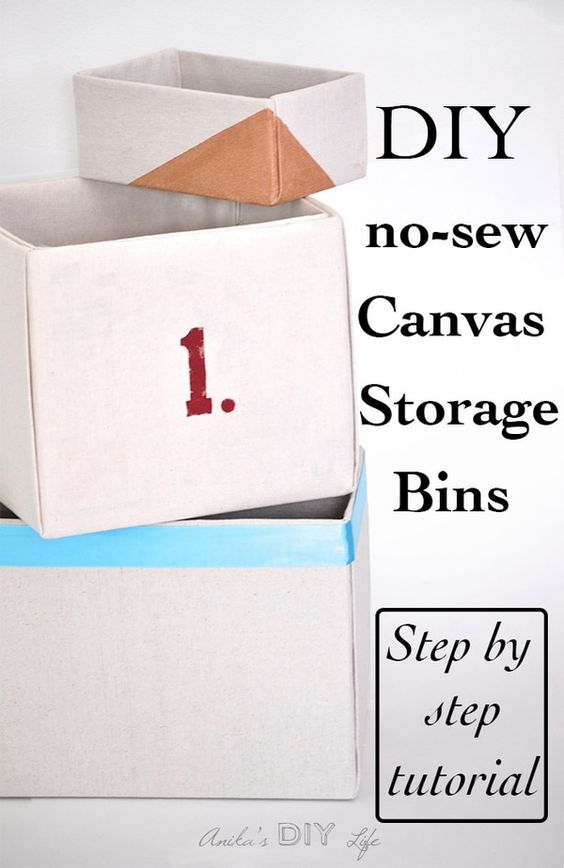 No sew storage bins