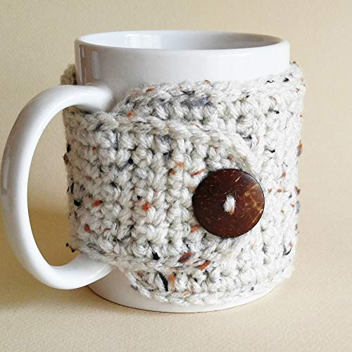 Handmade crocheted coffee cozy #ad