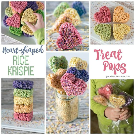 Valentine Rice Krispies treats #ValentinesDay