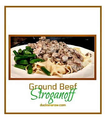 Ground beef stroganoff #easydinners