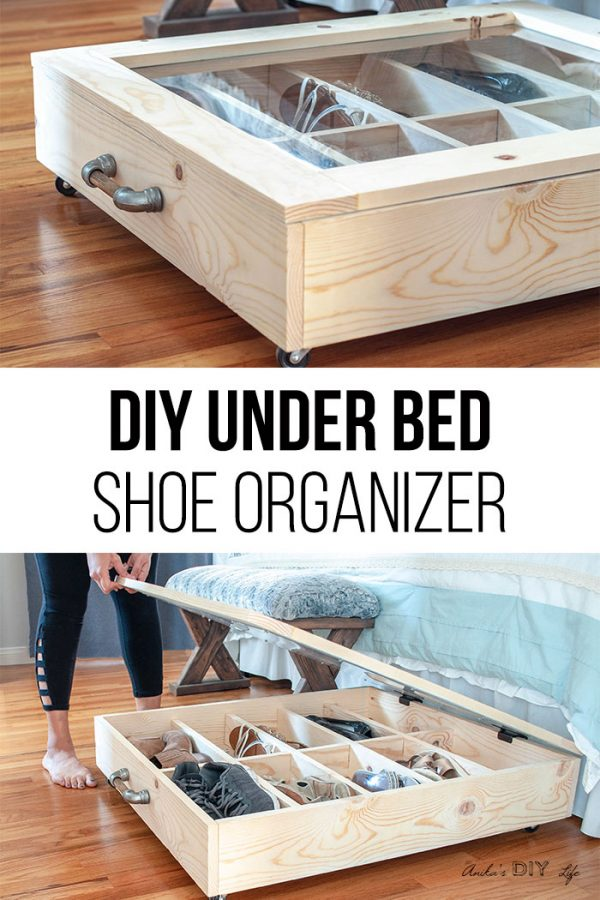 DIY under bed shoe organizer