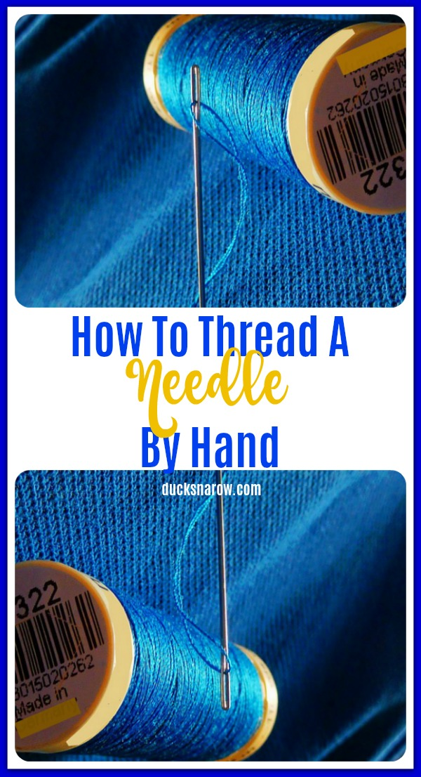 How to thread a needle by hand #tips