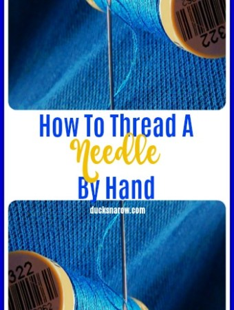 Tips on how to thread a needle with ease #tips