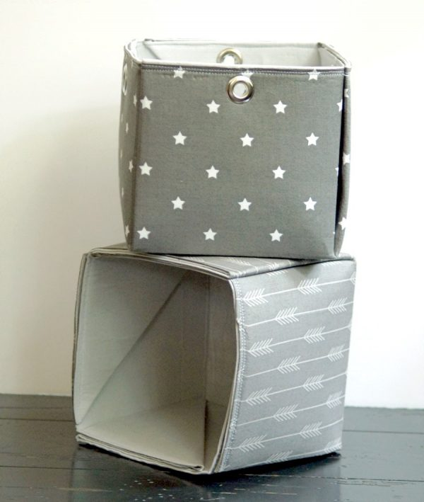 How to make your own fabric storage bins