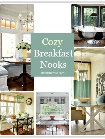 Breakfast nooks that will inspired the decorator in you! #homedecor #kitchen