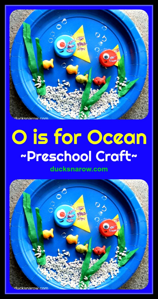 O is for Ocean paper plate craft for preschoolers #preschool #kidscrafts