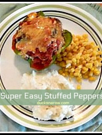 Easiest recipe for homemade stuffed peppers ever! #recipes