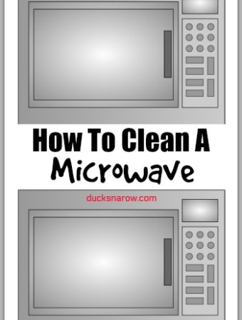How to clean a microwave and make it shine #tips