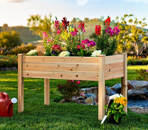 Raised garden planter #ad