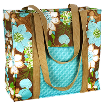 Handmade tote bag with free pattern #DIY #sewing