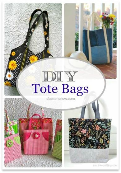 Diy Tote Bags #sewing #crafts