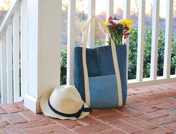 DIY jean tote bags #DIY