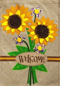 Sunflower welcome sign #ad