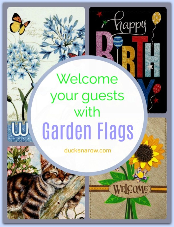 Make your garden extra special with garden flags #homedecor
