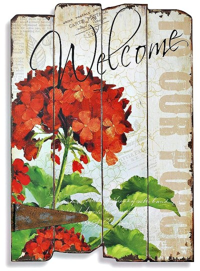 Lovely wooden WELCOME sign for the porch or garden #homedecor #ad