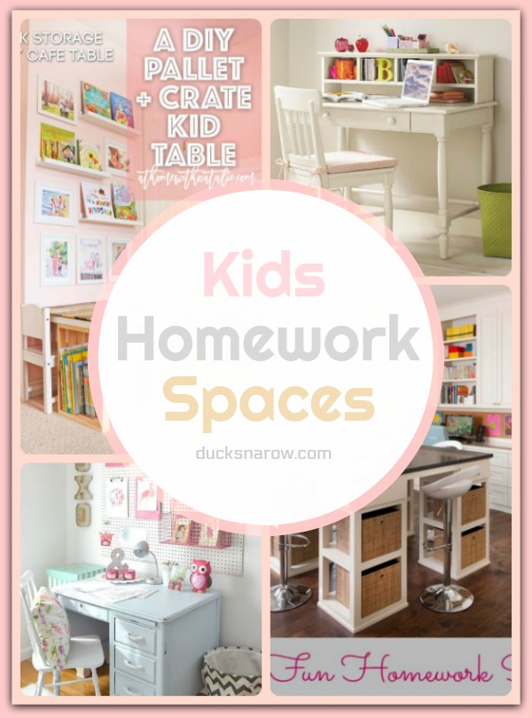 Inspiring homework spaces for #kids
