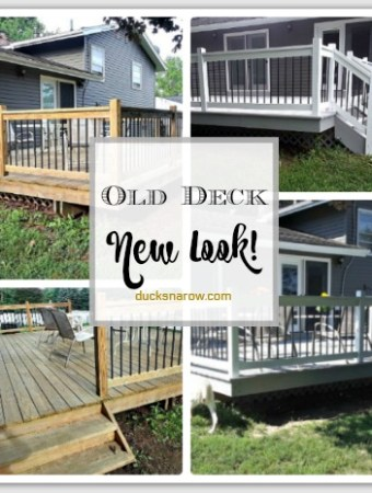 Old deck with white and gray stain looks brand new #DIY #homedecor