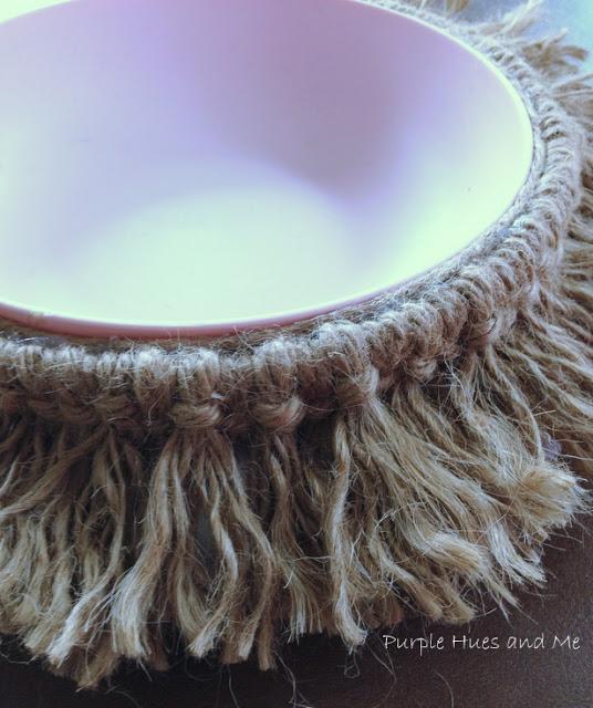 DIY fringe bowl #crafts