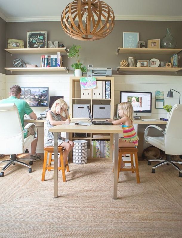 Family friendly work space #kids