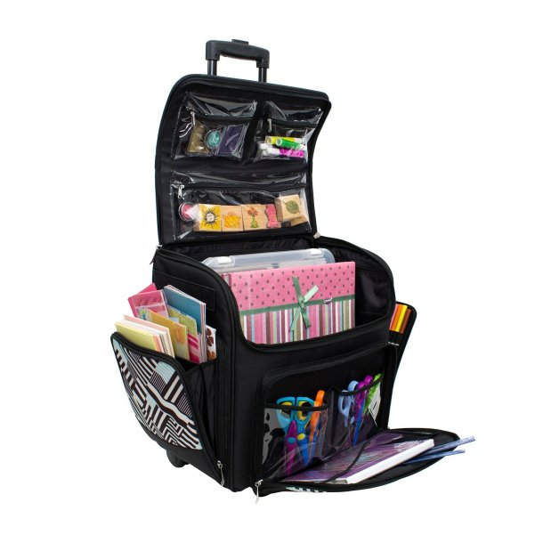 Rolling Craft Organizer Tote