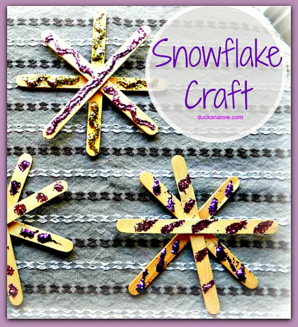 Easy glittery snowflake craft for #kids #crafts