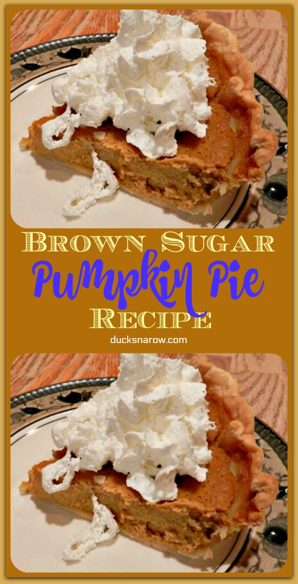 Brown sugar pumpkin pie is the ultimate pumpkin pie dessert experience! #desserts #pumpkin
