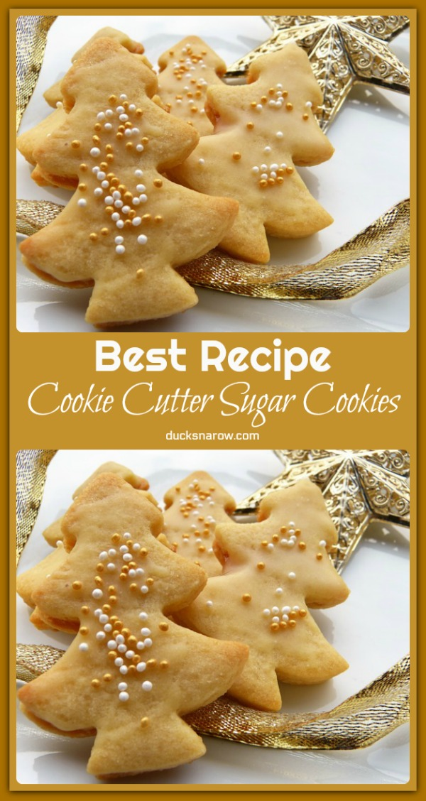 Easiest most delicious cookie cutter sugar cookie recipe ever! #recipes
