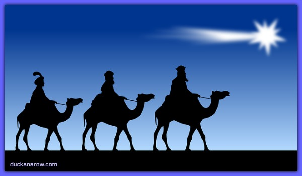 The three Magi following the star #Jesus #babyJesus #Christmas