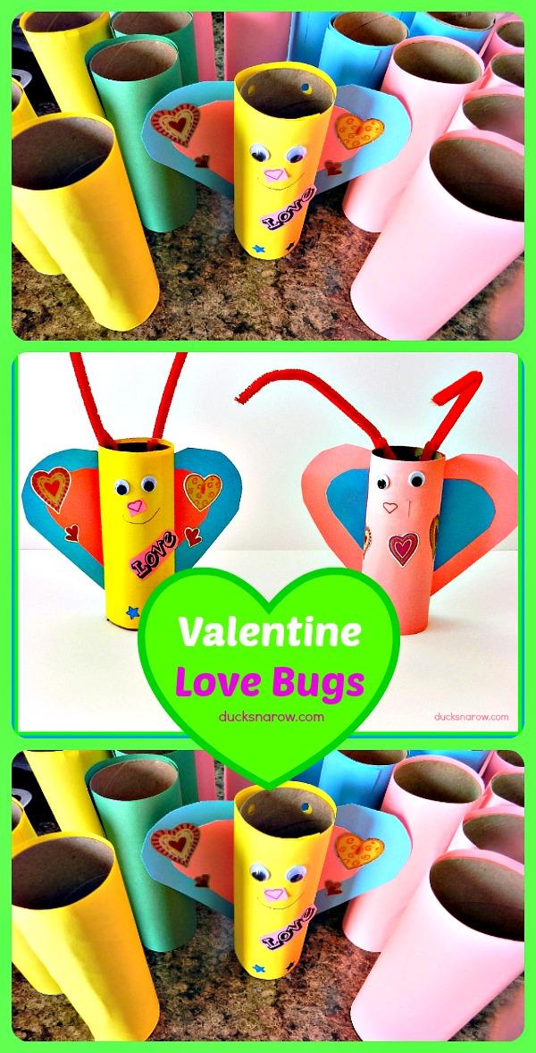 Fun paper craft for kids Valentine's Day