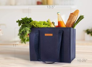 Reusable WASHABLE grocery bags and storage totes #ad