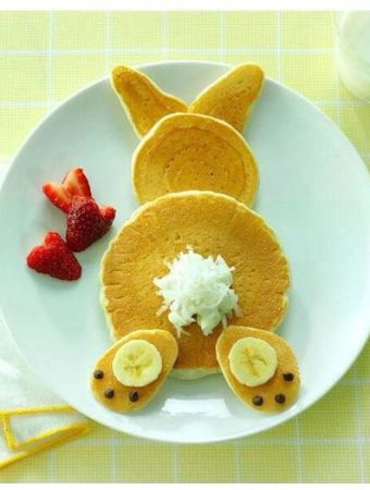 Bunny pancakes and more food art! #kids