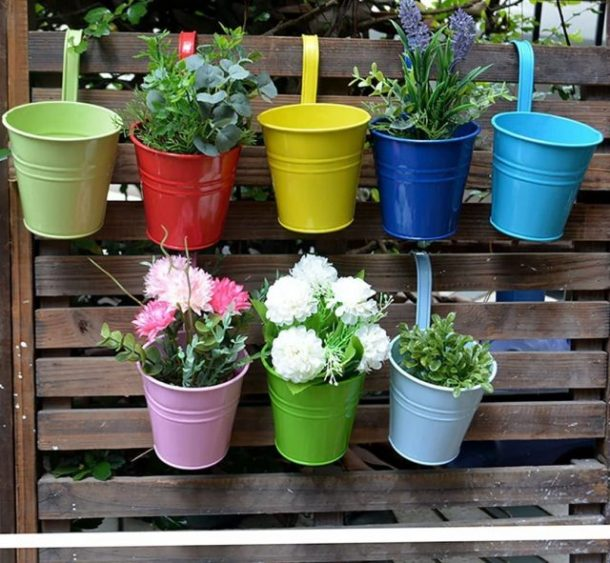 Hanging flower pots #ad
