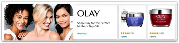 Oil of Olay creams for mom on Mother's Day