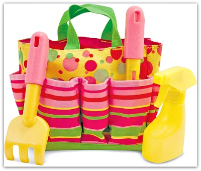 Sunny Patch gardening tool tote for kids from Melissa & Doug #Ad
