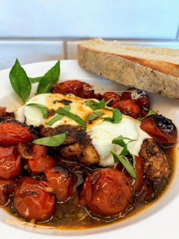 Balsamic Chicken and fresh tomatoes recipe