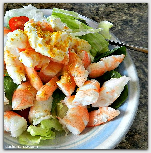 Easy low carb shrimp salad #recipes