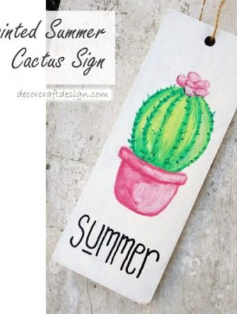 Painted summer sign DIY
