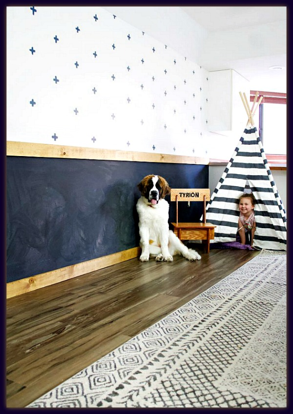 How to make a chalkboard wall by Eryn Whalen Online
