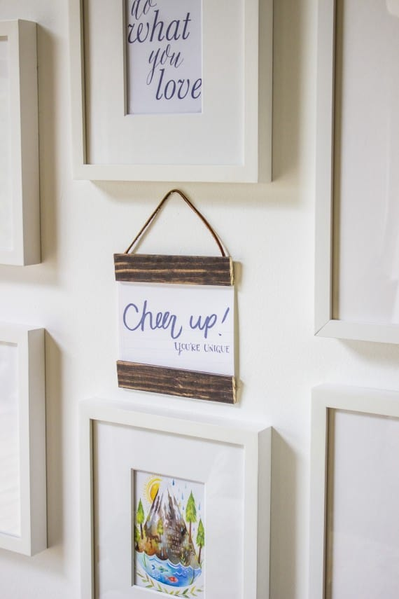 DIY wood leather hanging frames by Bonnie Christine dot come
