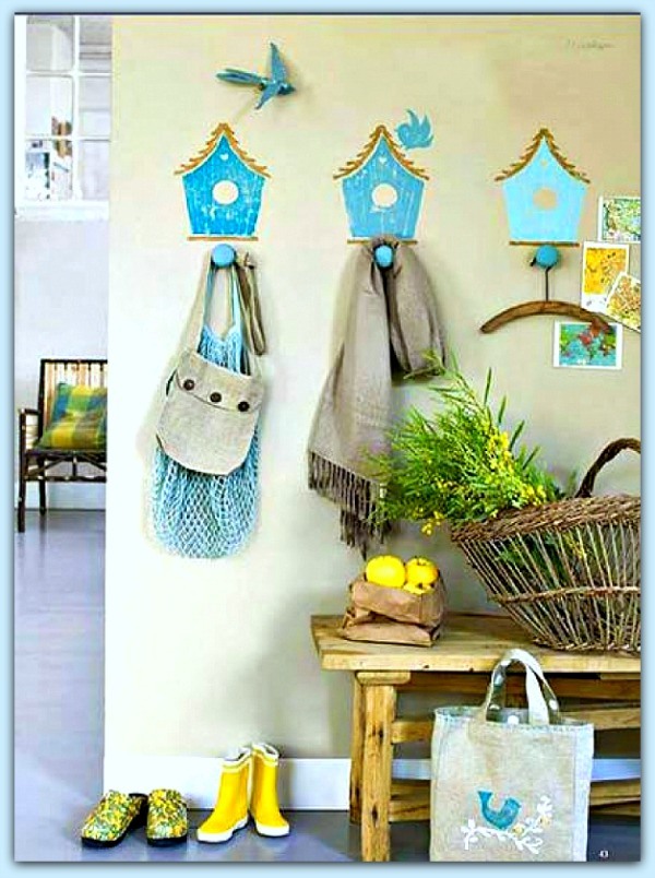 Painted Birdhouses in Drop Space #homedecor