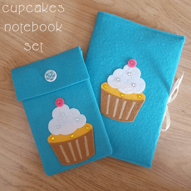 Cupcakes DIY notebook set