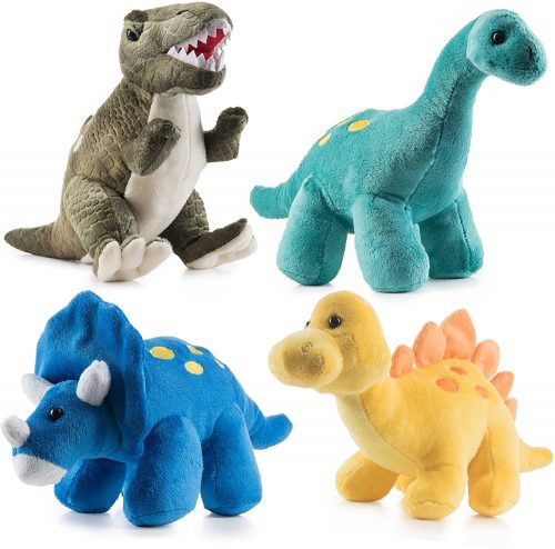 Plush dinosaur toy set #ad