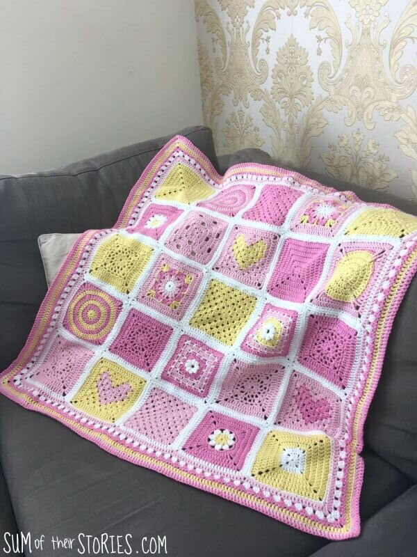 Patchwork Granny Square Baby Blanket