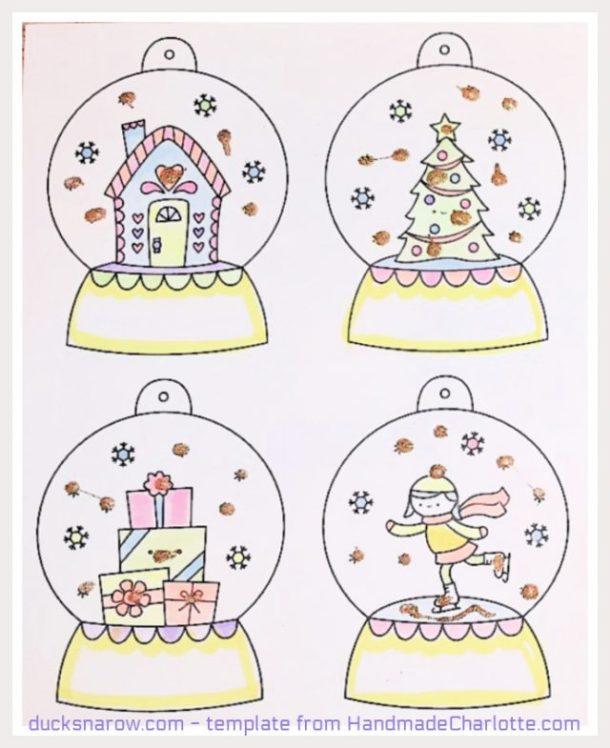 Easy snowglobe craft from handmadecharlotte.com