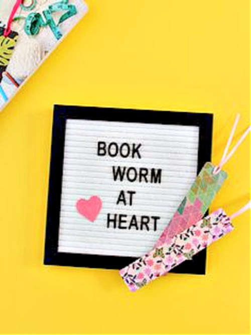 Homemade book marks for book worms #DIY
