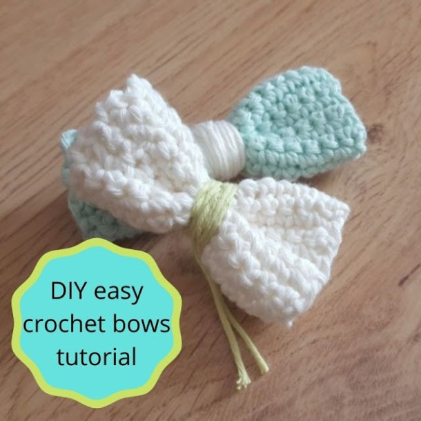 Easy crocheted bows