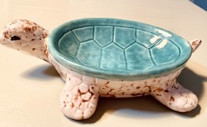 Handmade ceramic turtle bowl #ad