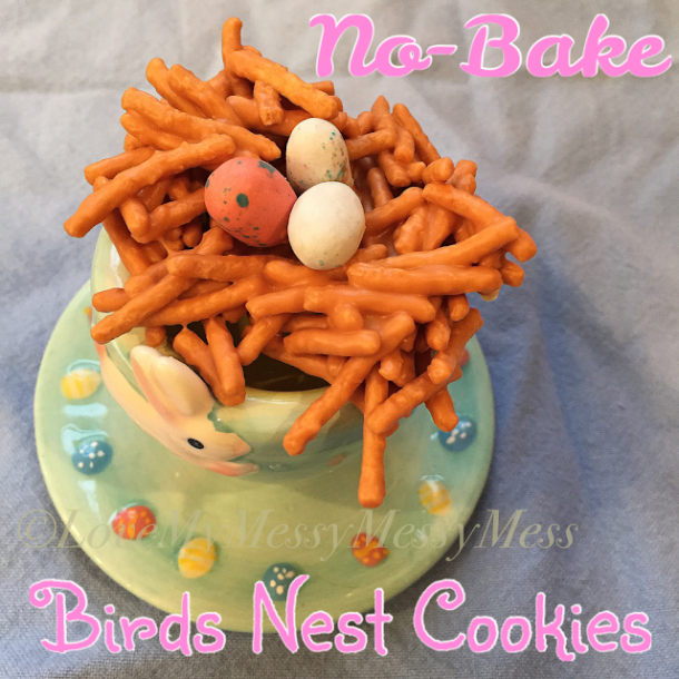 No bake birds nest cookies