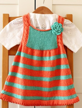 Pattern for knitting this adorable baby dress