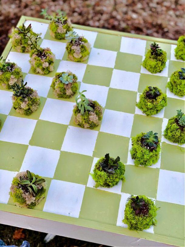 Outdoor Checker Board Table